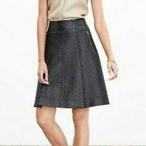 [Banana Republic] Textured faux leather zip skirt.